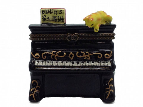 Cat on Piano Ceramic Jewelry Box - DutchNovelties  - 1