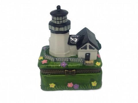 Black Lighthouse Ceramic Jewelry Box - DutchNovelties  - 1