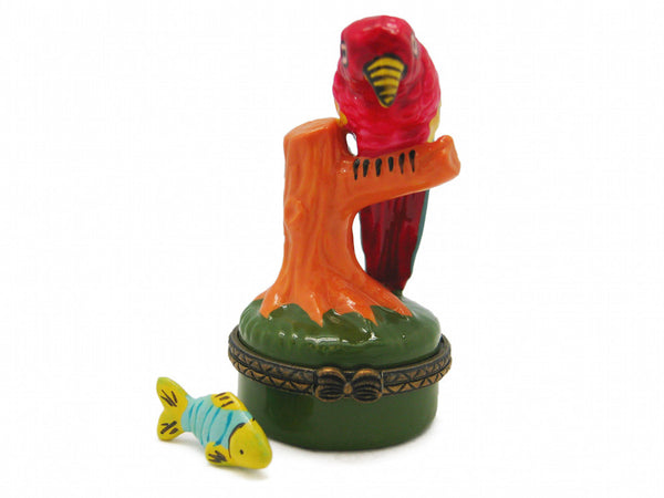 Parrot Ceramic Jewelry Box - DutchNovelties