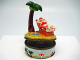 Woman on Beach Chair Ceramic Jewelry Box - DutchNovelties  - 6