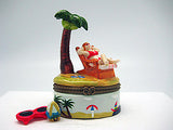 Woman on Beach Chair Ceramic Jewelry Box - DutchNovelties  - 4