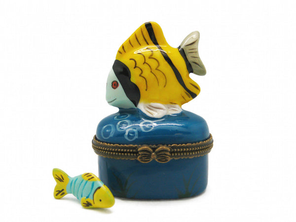 Yellow Fish Ceramic Jewelry Box - DutchNovelties  - 1