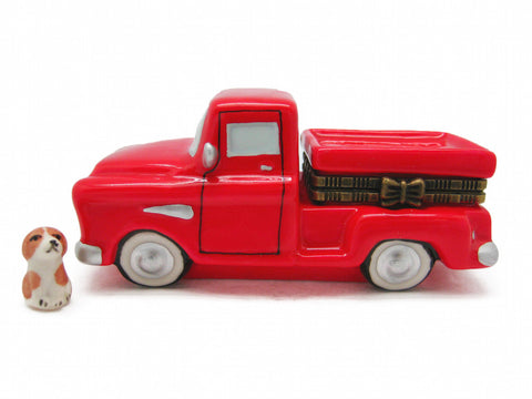 Box Red Pickup Truck Ceramic Jewelry Box - DutchNovelties  - 1