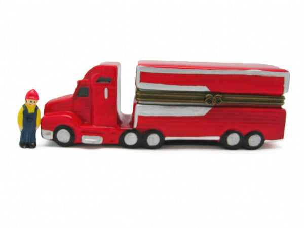 Semi Truck Ceramic Jewelry Box - DutchNovelties  - 1