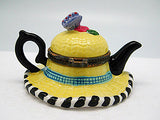 Jewelry Boxes For Little Girls: Straw Hat and Tea Pot - DutchNovelties  - 3
