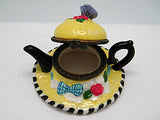 Jewelry Boxes For Little Girls: Straw Hat and Tea Pot - DutchNovelties  - 2
