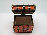 Porcelain Hinged Box Ellis Island Trunk Souvenir - DutchNovelties