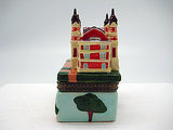 Ellis Island Building Porcelain Hinged Box Souvenir - DutchNovelties  - 5
