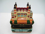 Ellis Island Building Porcelain Hinged Box Souvenir - DutchNovelties