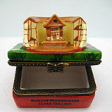 William Shakespeare Globe Theatre Porcelain Hinge Box - DutchNovelties  - 2