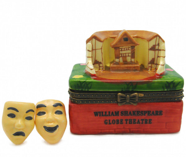 William Shakespeare Globe Theatre Porcelain Hinge Box - DutchNovelties  - 1
