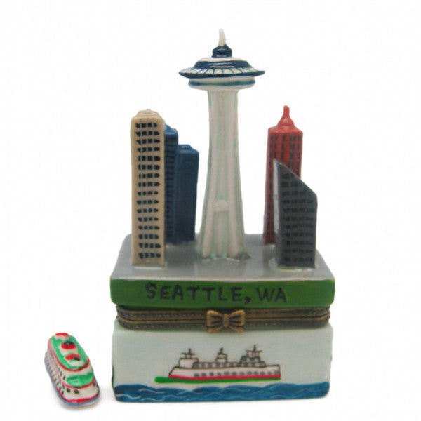 Seattle Downtown Scene Souvenir Hinge Box - DutchNovelties