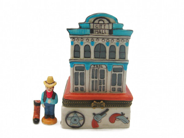 Western Gifts Hinge Box: City Hall & Jail - DutchNovelties  - 1
