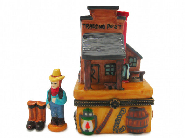 Western Gifts Hinge Box: Trading Post - DutchNovelties  - 1