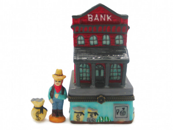 Western Gifts Hinge Box: Bank - DutchNovelties  - 1
