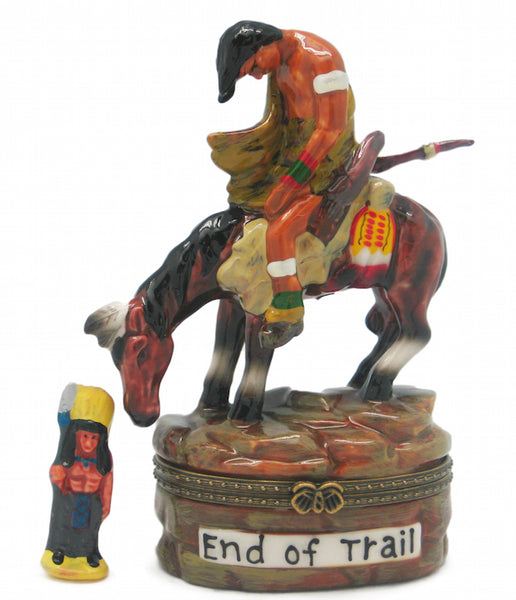 Western Gifts Hinge Box: End of the Trail