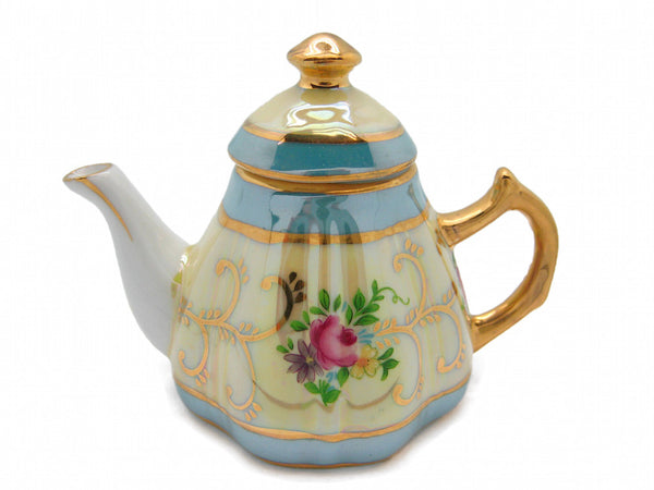 Gold Finish Tea Pot Victorian Jewelry Boxes - DutchNovelties