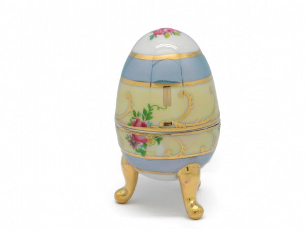 Gold Finish Egg Victorian Jewelry Boxes - DutchNovelties  - 1