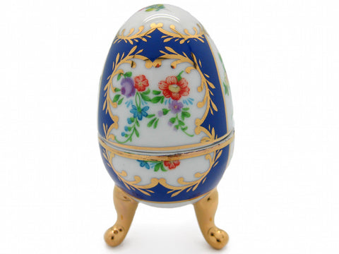 Classic Blue Egg Victorian Jewelry Boxes - DutchNovelties