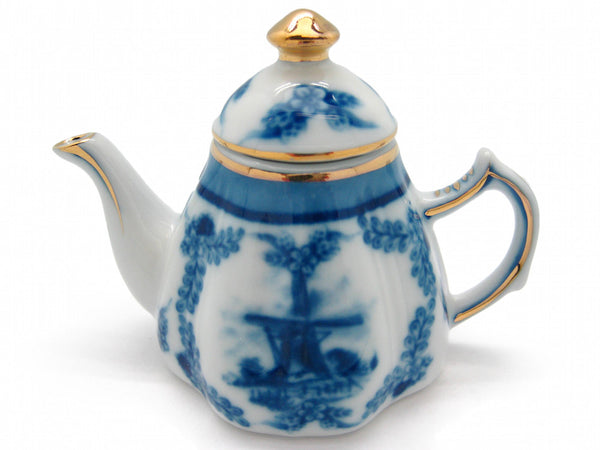 Delft Victorian Jewelry Tea Pot - DutchNovelties