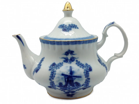 Porcelain Desert Rose Tea Pot - DutchNovelties