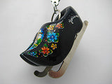Wooden Clogs Key Chain Black Clogs with Skates - DutchNovelties  - 2