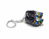 Wooden Clogs Key Chain Black Clogs with Skates - DutchNovelties  - 1