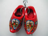 Wooden Clogs Key Chain Red Clogs with Skates - DutchNovelties  - 3