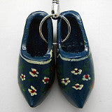 Holland Wooden Clogs Blue Keychain - DutchNovelties  - 2