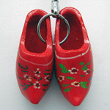 Holland Wooden Clogs Red Keychain - DutchNovelties  - 2