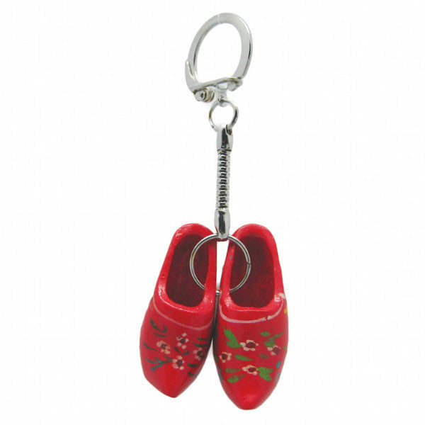 Holland Wooden Clogs Red Keychain - DutchNovelties  - 1