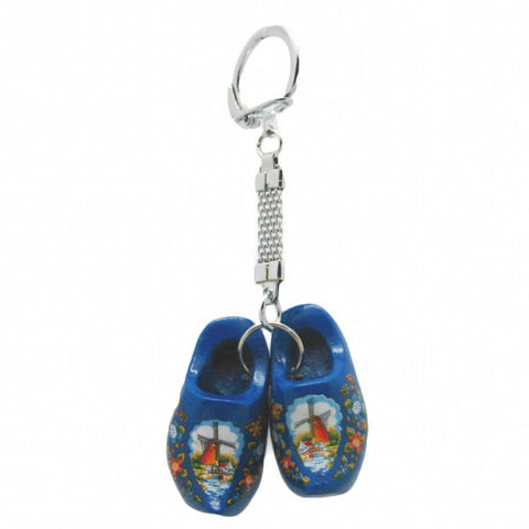 Dutch Wooden Shoe Keychain Blue - DutchNovelties
