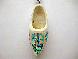 Holland Wooden Clogs Keychain Delft - DutchNovelties