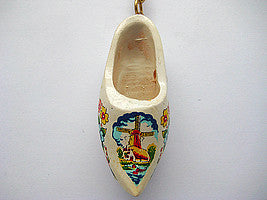 Holland Wooden Clogs Keychain Multi-Color - DutchNovelties