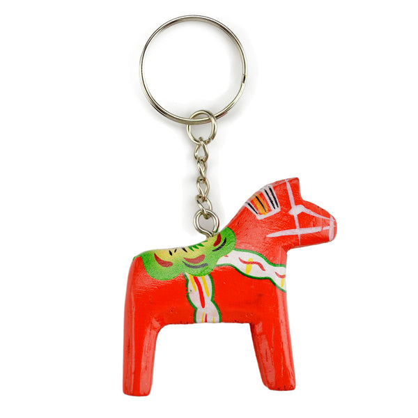 Swedish Gift Dala Horse Red Key Ring