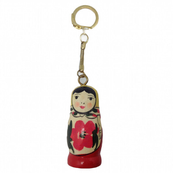 Wood Russian Nesting Doll KeyChain - DutchNovelties  - 1