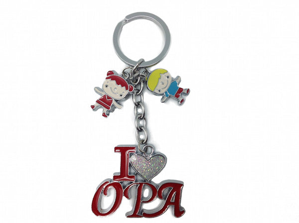 "Dutch Gift for Opa Key Chain: ""I Love Opa"" - DutchNovelties"