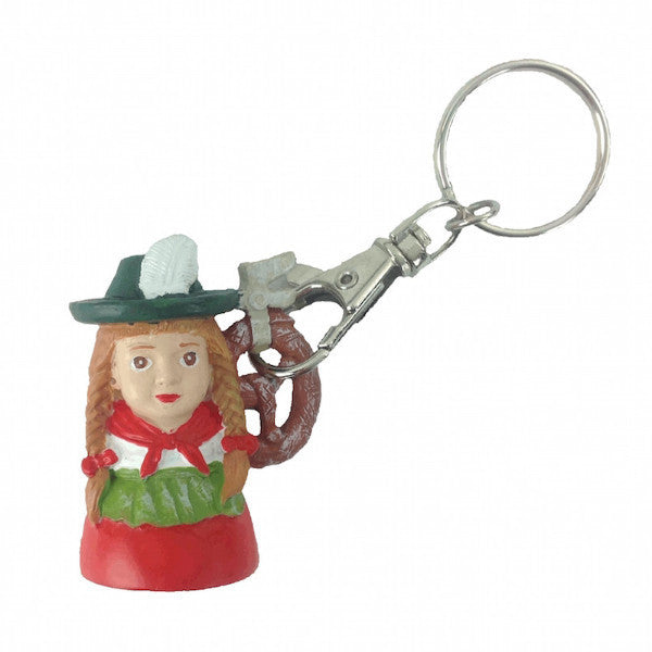 German Souvenir Keychain: Lady - DutchNovelties