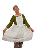 Deluxe European Adult Full Apron White - DutchNovelties  - 5