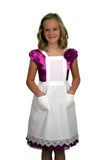Deluxe Girls Lace White Full Apron (Ages 8-16) - DutchNovelties  - 1