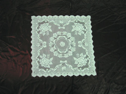 Inexpensive Table Linens: Ecru Rose Square Tablecloth - DutchNovelties