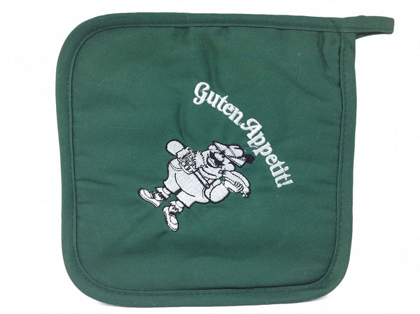 German Kitchenware Guten Appetit! Green Potholder - DutchNovelties