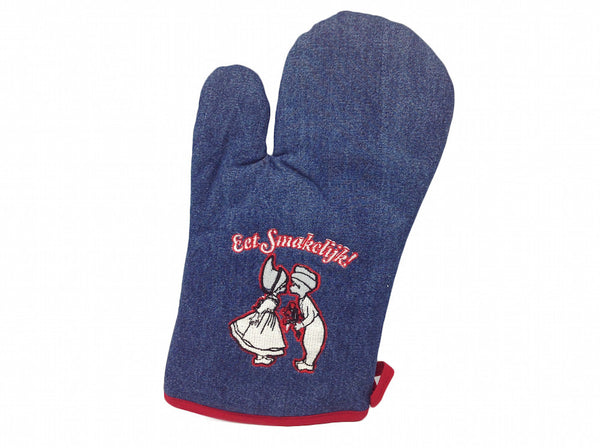 Dutch Gift Eet Smakelijk! Denim Mitten - DutchNovelties  - 1
