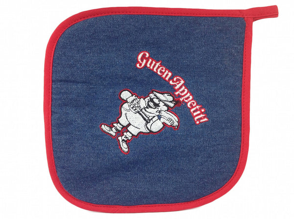 German Kitchenware Guten Appetit! Denim Potholder - DutchNovelties