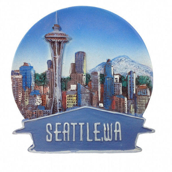 Skyline Banner Magnet Seattle Souvenirs - DutchNovelties  - 1