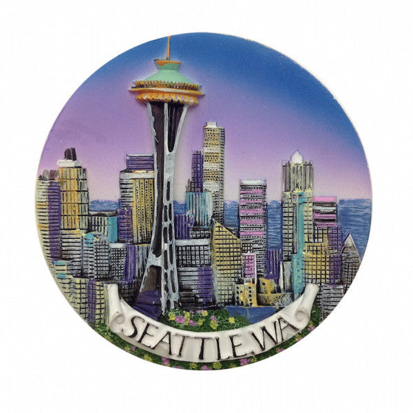 Seattle Skyline Magnet Seattle Souvenirs - DutchNovelties