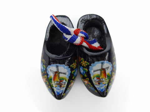 Black Wooden Shoes Magnetic Gift - DutchNovelties  - 1