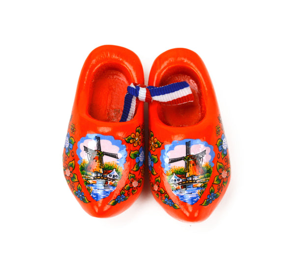 "Orange Windmill Wooden Shoe Magnets 1.5"" - DutchNovelties"