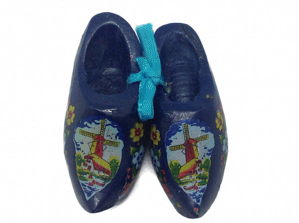 Wooden Clogs Gift Magnet Blue - DutchNovelties  - 1