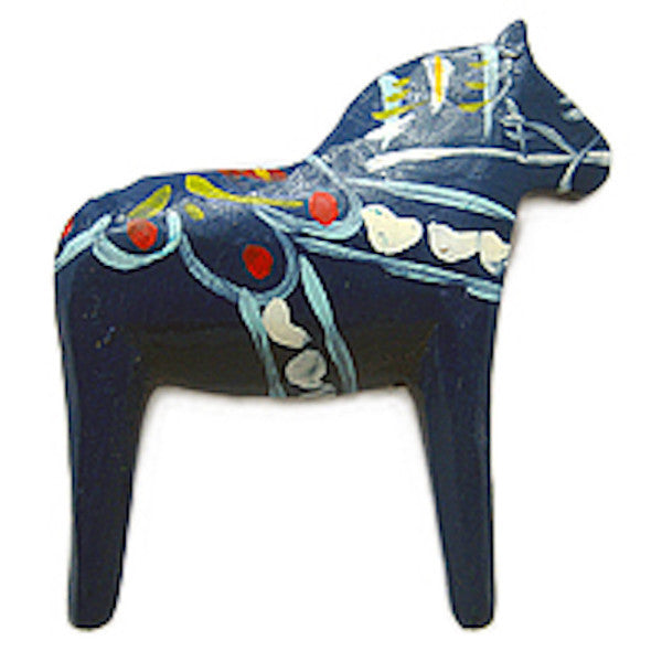 Swedish Horse Kitchen Magnet Gift Blue - DutchNovelties  - 1
